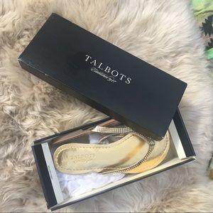Talbots | NEW w/box sz 7 gold golden sandles